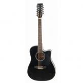 Акустическая гитара Harley Benton HBD200-12 BK 12-ти струнная эстрадная