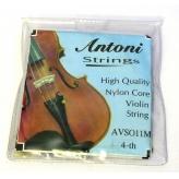 Струны для скрипки Antoni AVS011M 1\4,1\2