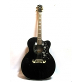 Электроакустическая гитара Harley Benton HB Custom Line King-CE BK эстрадная