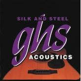 Струны для акустической 12-ти струнной гитары GHS Strings Silk and Steel set 600