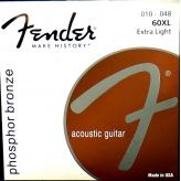 Струны для акустической гитары Fender 60XL Extra Light