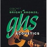 Струны для акустической гитары GHS Strings Contact Core Bright Bronze