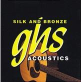 Струны для акустической гитары GHS Strings Silk and Bronze