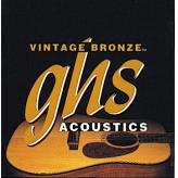 Струны для акустической гитары GHS Strings Vintage Bronze